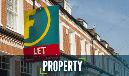 """A property with a """"to let"""" sign at the front"""