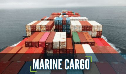 Marine Cargo shipment containers at sea