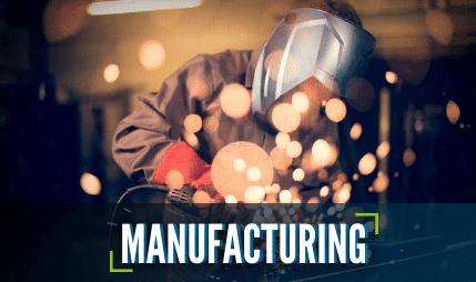 A manufacturer welding